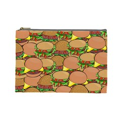 Burger Double Border Cosmetic Bag (large)