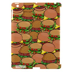 Burger Double Border Apple iPad 3/4 Hardshell Case (Compatible with Smart Cover)