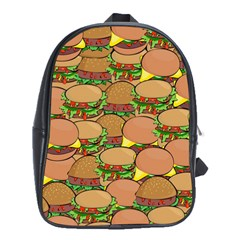 Burger Double Border School Bags (xl)