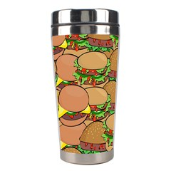Burger Double Border Stainless Steel Travel Tumblers