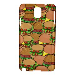 Burger Double Border Samsung Galaxy Note 3 N9005 Hardshell Case