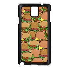 Burger Double Border Samsung Galaxy Note 3 N9005 Case (black)