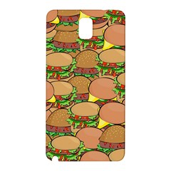 Burger Double Border Samsung Galaxy Note 3 N9005 Hardshell Back Case