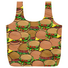 Burger Double Border Full Print Recycle Bags (L)