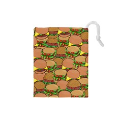 Burger Double Border Drawstring Pouches (Small)