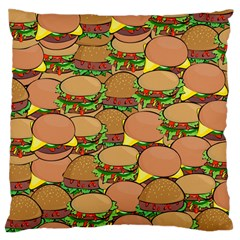 Burger Double Border Standard Flano Cushion Case (Two Sides)