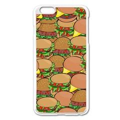 Burger Double Border Apple iPhone 6 Plus/6S Plus Enamel White Case