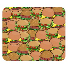 Burger Double Border Double Sided Flano Blanket (small)