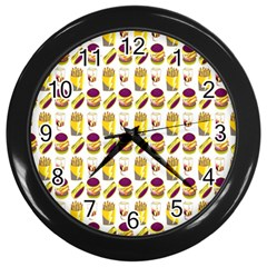 Hamburger And Fries Wall Clocks (Black)
