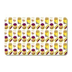 Hamburger And Fries Magnet (Rectangular)