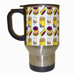 Hamburger And Fries Travel Mugs (White)