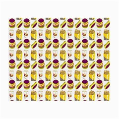 Hamburger And Fries Small Glasses Cloth
