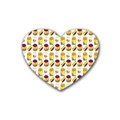 Hamburger And Fries Heart Coaster (4 Pack)