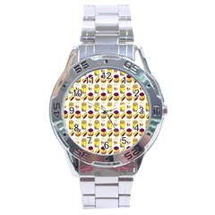 Hamburger And Fries Stainless Steel Analogue Watch