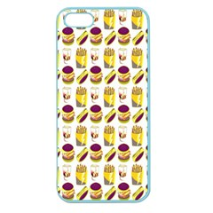 Hamburger And Fries Apple Seamless iPhone 5 Case (Color)