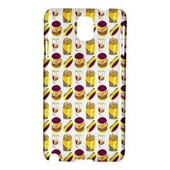 Hamburger And Fries Samsung Galaxy Note 3 N9005 Hardshell Case