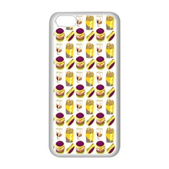 Hamburger And Fries Apple iPhone 5C Seamless Case (White)