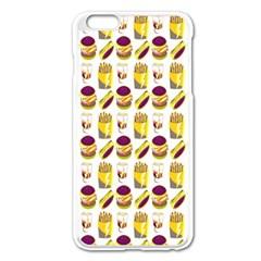 Hamburger And Fries Apple Iphone 6 Plus/6s Plus Enamel White Case