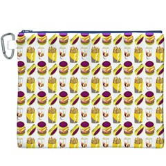 Hamburger And Fries Canvas Cosmetic Bag (XXXL)