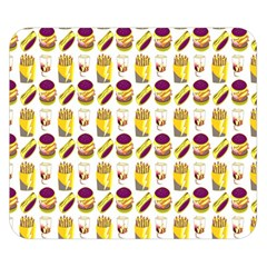 Hamburger And Fries Double Sided Flano Blanket (Small)