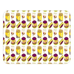 Hamburger And Fries Double Sided Flano Blanket (Large)