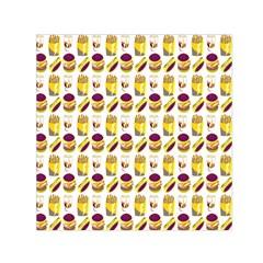 Hamburger And Fries Small Satin Scarf (square)