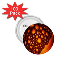Bubbles Abstract Art Gold Golden 1 75  Buttons (100 Pack)