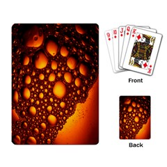 Bubbles Abstract Art Gold Golden Playing Card