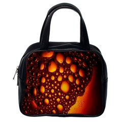 Bubbles Abstract Art Gold Golden Classic Handbags (one Side)