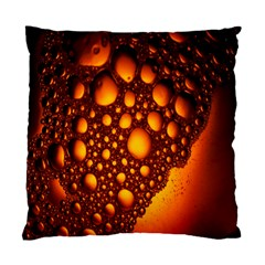 Bubbles Abstract Art Gold Golden Standard Cushion Case (one Side)