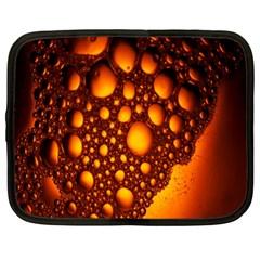 Bubbles Abstract Art Gold Golden Netbook Case (xxl)
