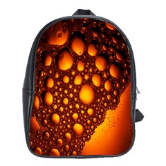 Bubbles Abstract Art Gold Golden School Bags(large)