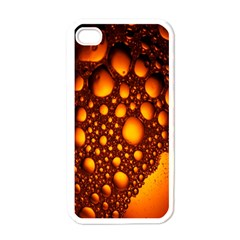 Bubbles Abstract Art Gold Golden Apple Iphone 4 Case (white)