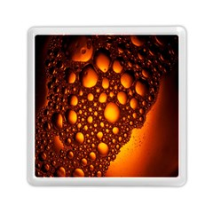 Bubbles Abstract Art Gold Golden Memory Card Reader (square)