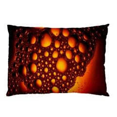Bubbles Abstract Art Gold Golden Pillow Case (two Sides)