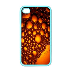 Bubbles Abstract Art Gold Golden Apple Iphone 4 Case (color)