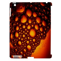 Bubbles Abstract Art Gold Golden Apple iPad 3/4 Hardshell Case (Compatible with Smart Cover)