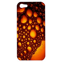 Bubbles Abstract Art Gold Golden Apple Iphone 5 Hardshell Case