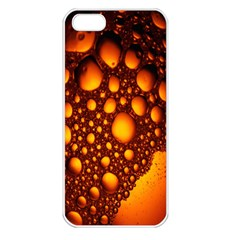 Bubbles Abstract Art Gold Golden Apple Iphone 5 Seamless Case (white)