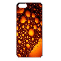 Bubbles Abstract Art Gold Golden Apple Seamless iPhone 5 Case (Clear)