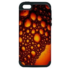 Bubbles Abstract Art Gold Golden Apple iPhone 5 Hardshell Case (PC+Silicone)