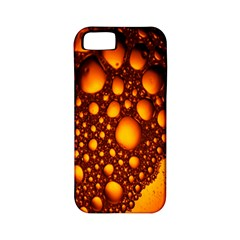 Bubbles Abstract Art Gold Golden Apple iPhone 5 Classic Hardshell Case (PC+Silicone)