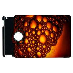 Bubbles Abstract Art Gold Golden Apple iPad 2 Flip 360 Case