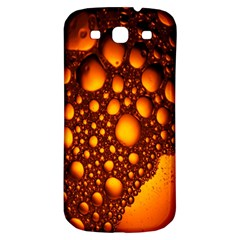 Bubbles Abstract Art Gold Golden Samsung Galaxy S3 S III Classic Hardshell Back Case