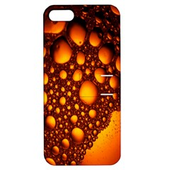 Bubbles Abstract Art Gold Golden Apple iPhone 5 Hardshell Case with Stand