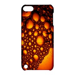 Bubbles Abstract Art Gold Golden Apple iPod Touch 5 Hardshell Case with Stand