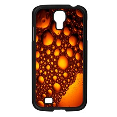 Bubbles Abstract Art Gold Golden Samsung Galaxy S4 I9500/ I9505 Case (Black)