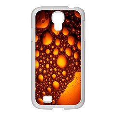 Bubbles Abstract Art Gold Golden Samsung Galaxy S4 I9500/ I9505 Case (white)