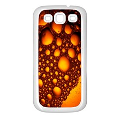Bubbles Abstract Art Gold Golden Samsung Galaxy S3 Back Case (White)