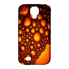 Bubbles Abstract Art Gold Golden Samsung Galaxy S4 Classic Hardshell Case (PC+Silicone)
